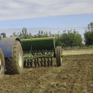 Tractor Tilling